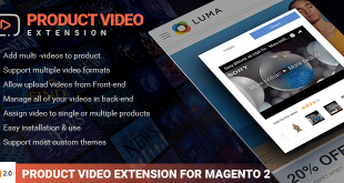 Magento 2 product video extension