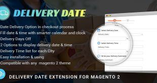 Magento 2 delivery date extension